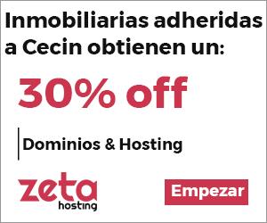 Inmobiliarias adheridas a Cecin obtienen un 30% off.